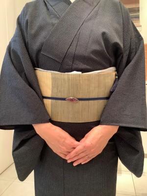 塩沢お召葛布裂取名古屋 (2)